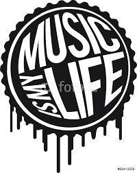 music is my life runder stempel graffiti wall sticker wall stickers music is my life runder stempel graffiti wall sticker