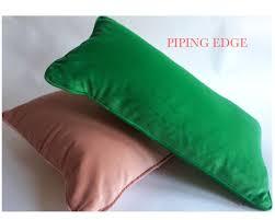 Navy Velvet Cushion Navy Blue Cotton Velvet Pillow Cover Decorative Accent Bolster
