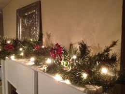 christmas garland with lights christmas mantle berry garland christmas garland
