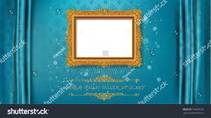 Blue Pattern Background by Royal Frame On Blue Pattern Background Stock Vector 735009529