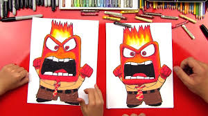 how to draw anger from inside out art for kids hub