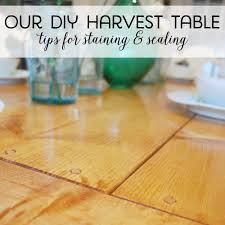 Laminate Flooring Sealer Our Diy Harvest Table Sanding Staining U0026 Sealing The Sweetest Digs