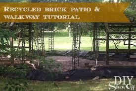Brick Patio Diy Grape Arbor Gazebo Makeover Diy Show Off Diy Decorating And