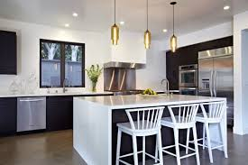 designer kitchen pendant lights over island bench lighting