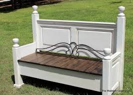make a bench out of a headboard and footboard 11 outstanding for