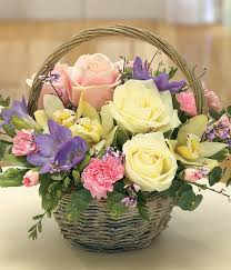 s day floral arrangements simply scented fragrant mothers day flower basket arrangement