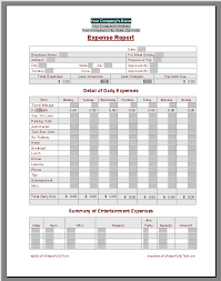 Detailed Expense Report Template by Expense Report Template Employee Expense Report Templates