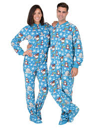 winter footed drop seat pajamas drop