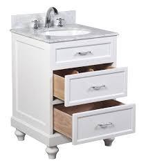 Kirklands Bathroom Vanity Kent 24 Inch Traditional Bathroom Vanity Whitewash Finish