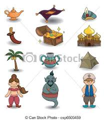 eps vectors cartoon lamp aladdin icon csp6503459