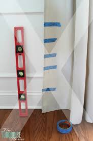 How To Make Curtains Out Of Drop Cloths Diy Drop Cloth Curtains The Turquoise Home