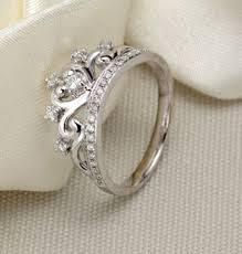 crown diamond rings images Unique princess crown half carat diamond engagement ring in white jpg