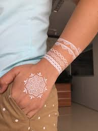 white lace floral henna tattooforaweek temporary tattoos largest