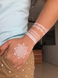 white lace floral henna tattooforaweek temporary tattoos largest