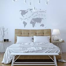 Map Bedding Wall Sticker World Map U0027dreams U0027