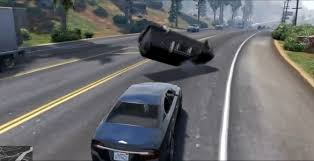 gta 5 mod adds hollywood rollovers for car crashes one angry gamer
