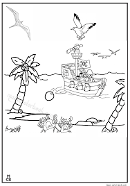 magic pirate ship coloring pages 01