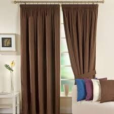 Brown Blackout Curtains Solar Chocolate Blackout Pencil Pleat Curtains Dunelm
