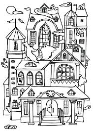 scary haunted house coloring pictures printable pages for kids