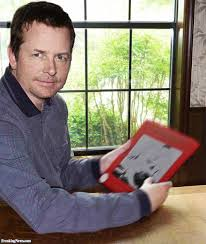 michael j fox with an etch a sketch pictures freaking news