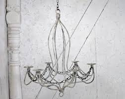Real Candle Chandelier Candle Chandelier Etsy