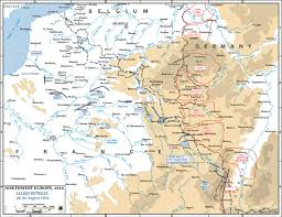 Map Of Europe 1914 19141918 Main Battle Fronts Timeline 4th Aug 1914 Britain Map Of