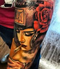 flower and boxing gloves tattoo photo 4 2017 real photo