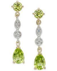 Peridot Chandelier Earrings David Yurman Cerise Mini Earrings With Peridot And Diamonds In