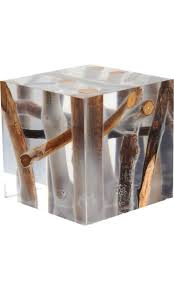 stacked cubes crystal table l resin and wood table love this mystical cube like a forest in a