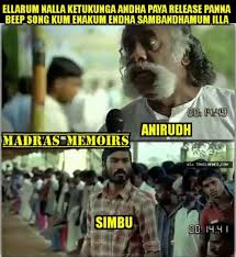 Memes Song - simbu memes on beep song issue
