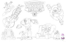 coloring pages rescue bots