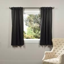 Home Depot Blackout Shades Solaris Semi Opaque Black Media Back Tab Curtain 1622299 The