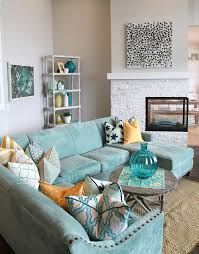 Best Aqua Living Rooms Ideas On Pinterest Coastal Inspired - Colorful living room chairs