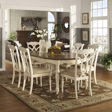 white dining room sets tribecca home shayne country antique two tone white extending