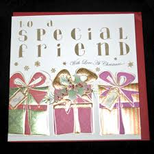 hand finished special friend christmas card karenza paperie