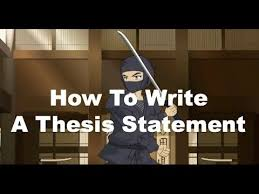 write a good thesis statement writing ninjas how to write a strong thesis statement youtube