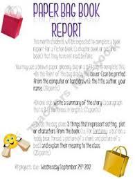 paper bag book report template essay editing services dla editors proofers scrapbooking a