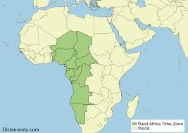 Map West Africa by Wat Wast West Africa Time Zone