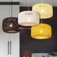 Retro Pendant Lights Discount Nest Rattan Woven Pendant Light Retro Pendant Lamp