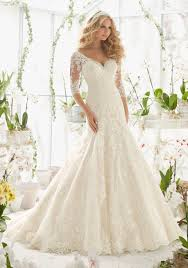 lace wedding dress lace wedding dress with appliques on net style 2812 morilee