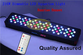 Reef Aquarium Lighting Auto Dimmable Led Coral Reef Aquarium Light 216w Artemis 72x3w