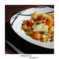 cuisiner le chou chinois emincé de chou chinois à la courge plats au tofu seitan