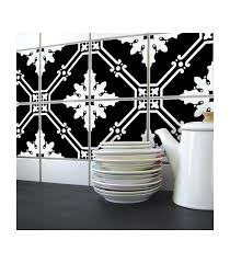 autocollant pour carrelage cuisine stickers pour carrelage de cuisine ou salle e bain en noir et blanc