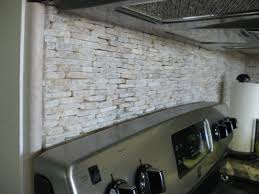 Creative Kitchen Backsplash Diy Faux Stone Backsplash Backyard Decorations By Bodog