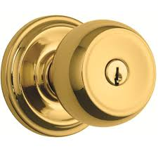 brinks home security stafford polished brass keyed entry push pull