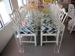 Lucite Dining Room Chairs Lucite Dining Table Circa Who