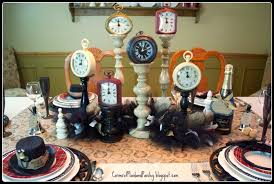 New Years Clock Decorations by Corner Of Plaid And Paisley New Years Eve Tablescape Going