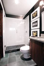 Bathroom With Black Walls Decorating With Style A Sophisticated Superhero Bathroom Makeover