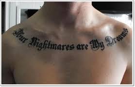 most wanted collar bone tattoos