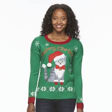 meowy christmas sweater 14 hilarious christmas sweaters you can nab for 40